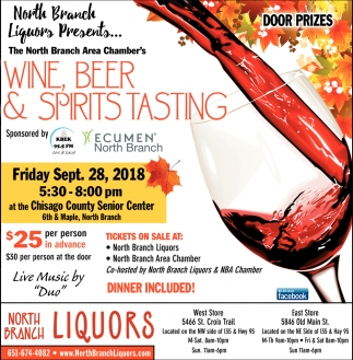 Wine, Beer & Spirits Tasting