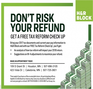 Don't Risk Your Refund