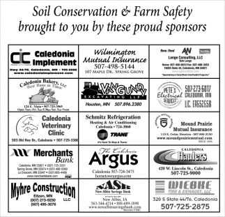 Soil Conservation & Farm Safety Brouth to You by these Proud Sponsors