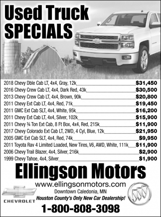 Used Truck Specials