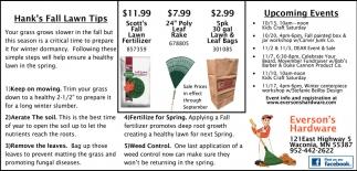 Hank's Fall Lawn Tips