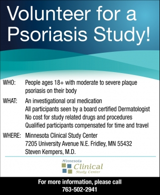 Volunteer for a Psoriasis Study!