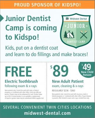 Junior Dentist Camp is Coming to Kidspo!