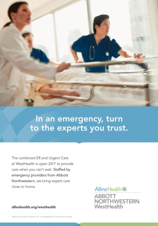 In An Emergency Turn To The Experts You Trust Allina Health