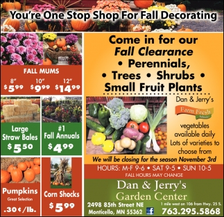 You're One Stop Shop for Fall Decorating