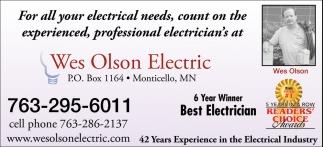 6 Year Winner Best Electrician