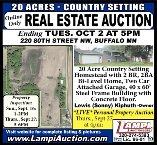 Online Only Real Estate Auction