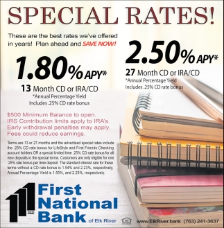Special Rates!