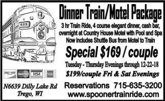 Dinner Train / Motel Package