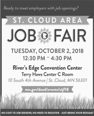Ready To Meet Employers With Job Openings St Cloud Area Job Fair