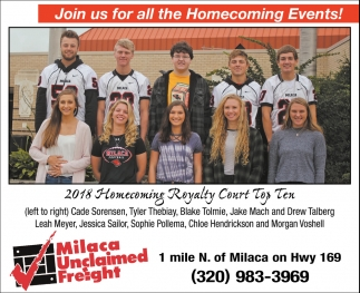Join Us for All the homecoming Events!
