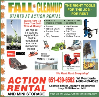 Fall Cleanup Starts at Action Rental