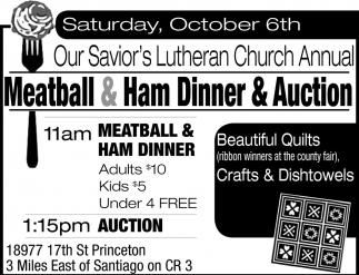 Meatball & Ham Dinner & Auction