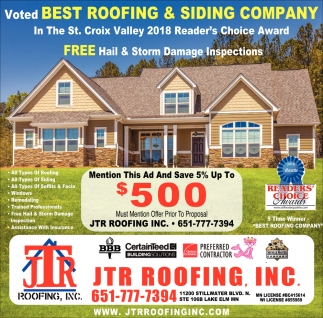 Voted Best Roofing & Siding Company