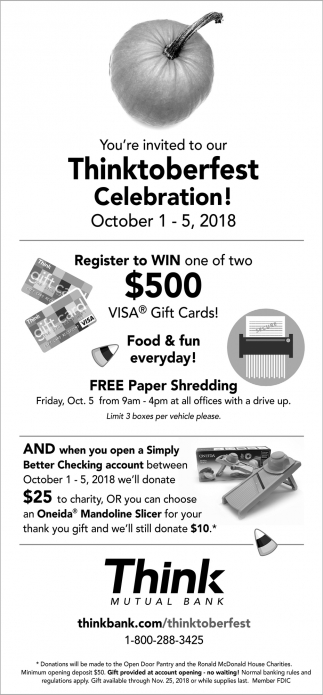 You're Invited to Our Thinktoberfest Celebration!