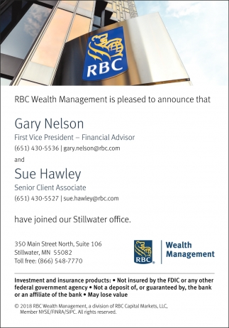 RBC Wealth Management is Pleased to Announce that Gary