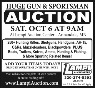 Huge Gun & Sportsman Auction