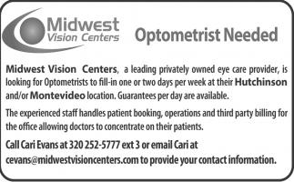 Optometrist Needed