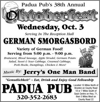 Padua Pub's 38th Annual Oktoberfest