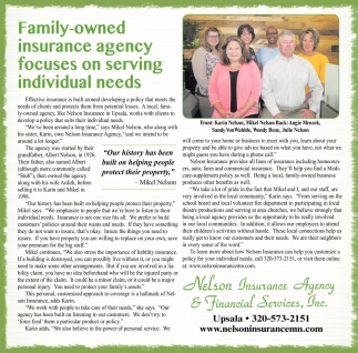 Family-Owned Insurance Agency Focuses on Serving Individual Needs