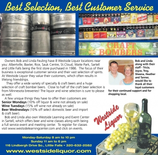 Best Selection, Best Customer Service