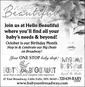 Join us at Hello Beautiful where You'll Find All Your Baby's Needs & Beyond!