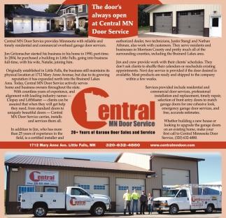 The Door's Always Open at Central MN Door Service