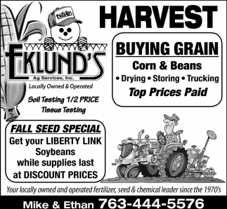 Fall Seed Special