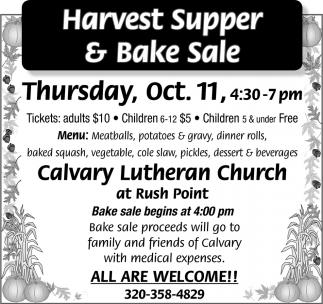 Harvest Supper & Bake Sale