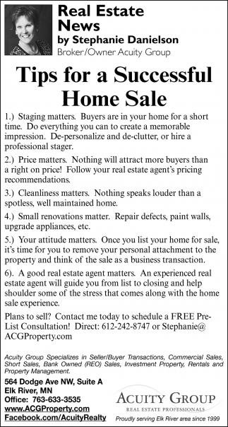Tips for a Successful Home Sale