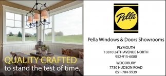 Quality Crafted To Stand The Test Of Time Pella Windows Doors