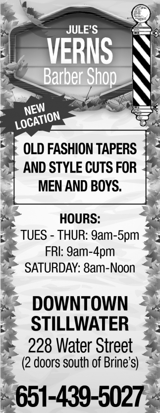 Old Fashion Tapers and Style Cuts for Men and Boys
