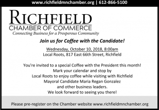 Join us for Coffee with the Candidate!