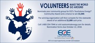 Volunteers Make the World Go Around
