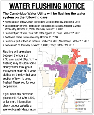 Water Flushing Notice