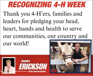 Recognizing 4-H Week
