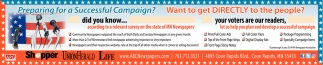 Let Us Help You Plan Develop a Successful Campaign