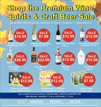 Shop the Premium Wine, Spirits & Craft Beer Sale
