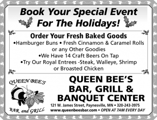 Book Your Special Event for the Holidays!