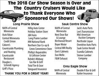 Thank Everyone Who Sponsored Our Shows