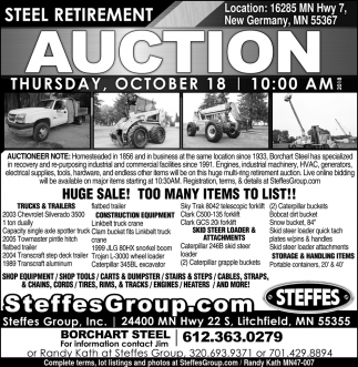 Steel Retirement Auction