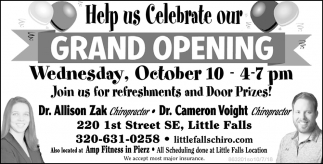Help Us Celebrate Our Grand Opening!