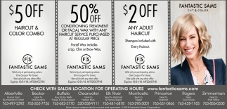 Check with Salon Location for Operating Hours