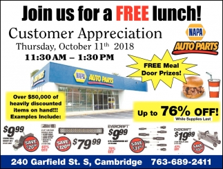 Join us for a FREE Lunch!
