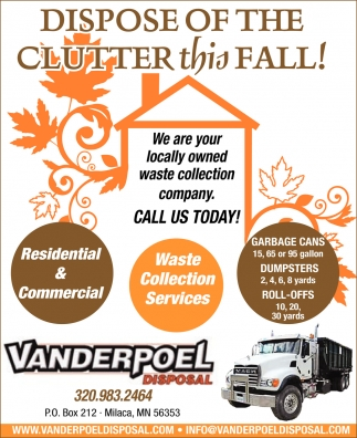 Dispose of the Clutter this Fall!