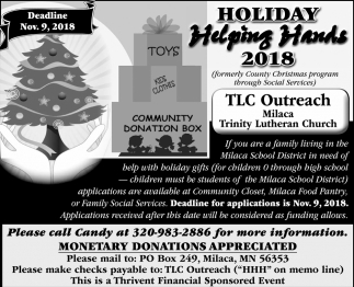 Holiday Helping Hands 2018