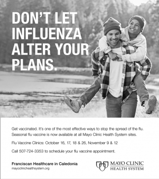 Don't Let Influenza Alter Your Plans, Mayo Clinic Health