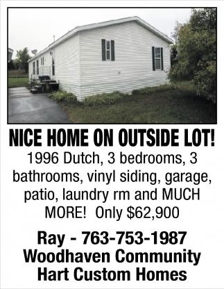 Nice Home on Outside Lot!