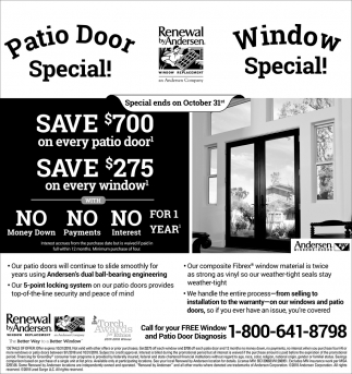 Patio Door Special!