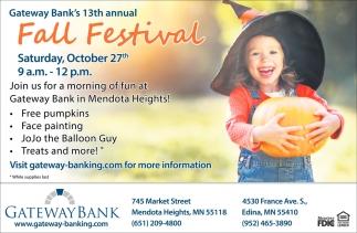 Gateway Bank's 13th Annual Fall Festival